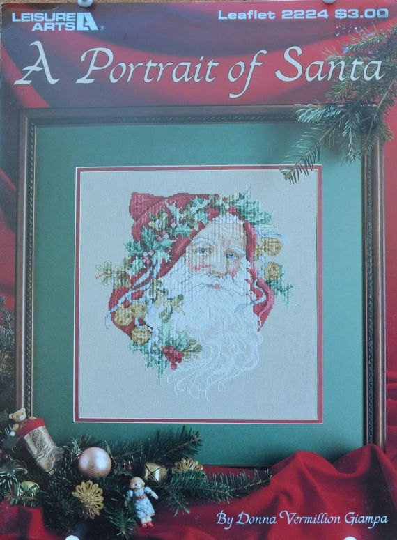 A Portrait of Santa Counted Cross Stitch Chart