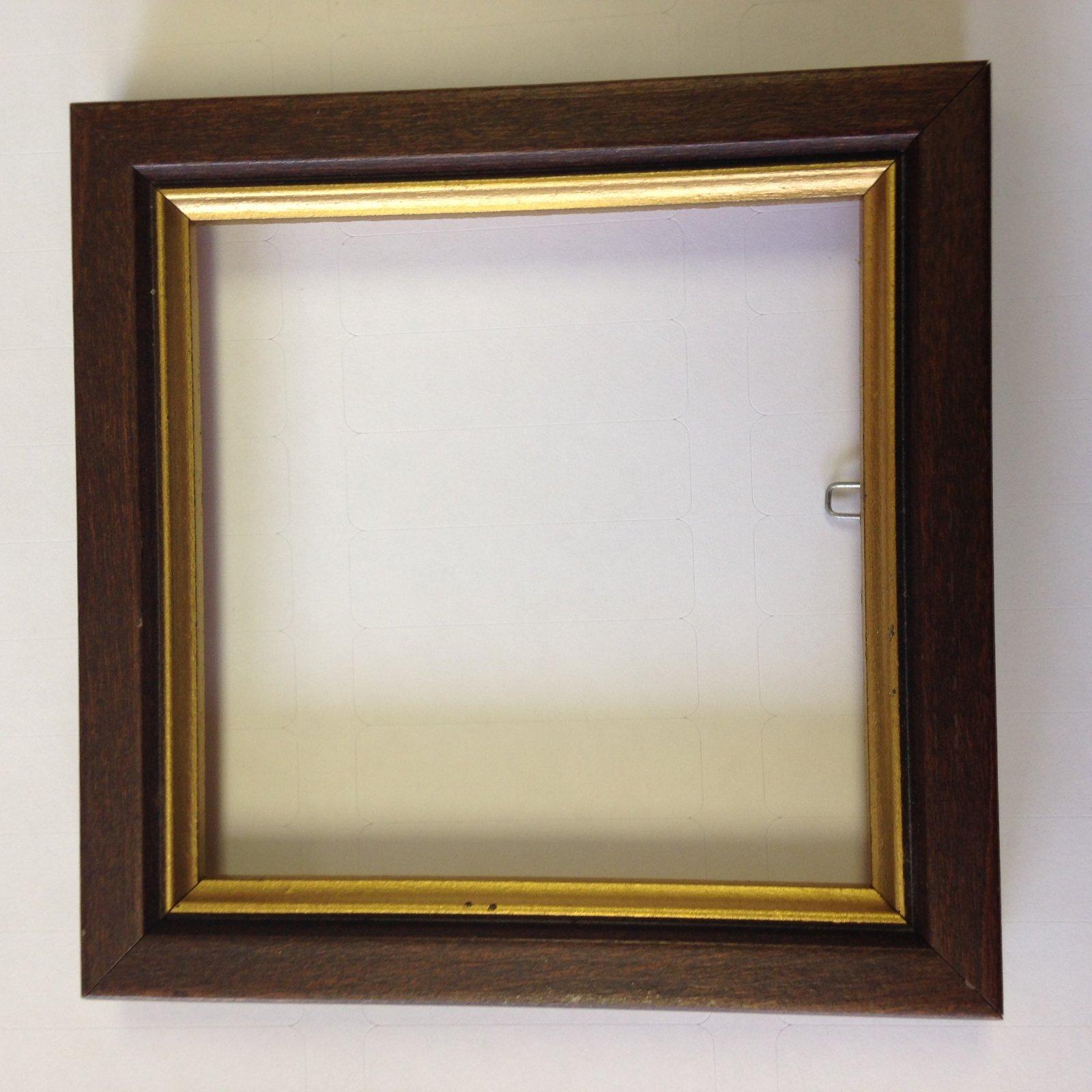 3.25 Dark Brown & Gold Wood Frame