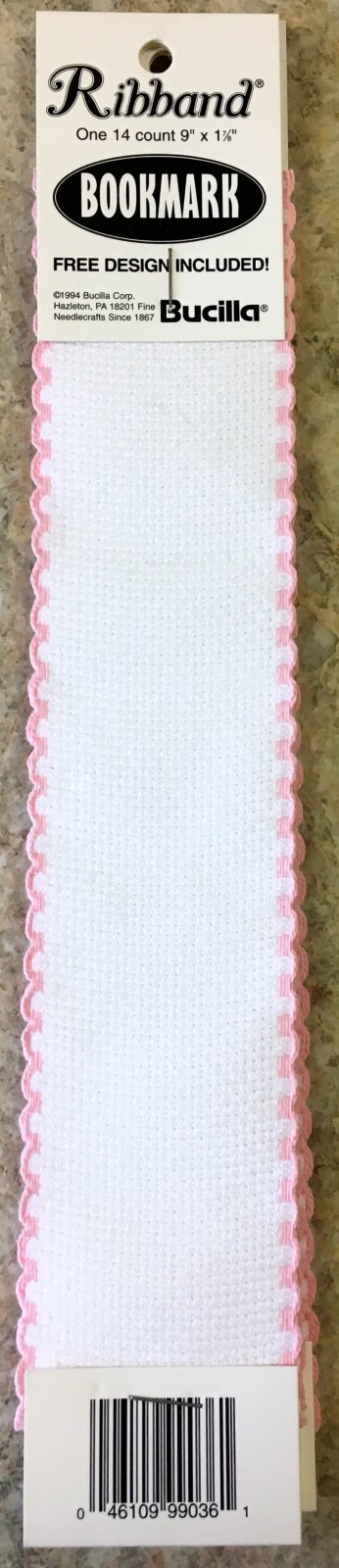 Blank Bookmark White/Pink