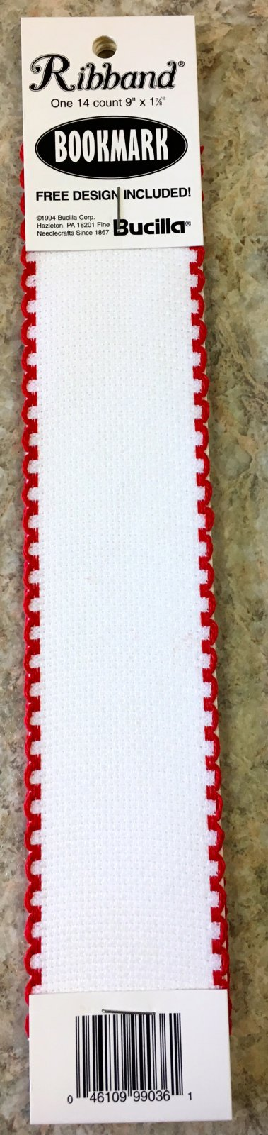 Blank Bookmark White/Red