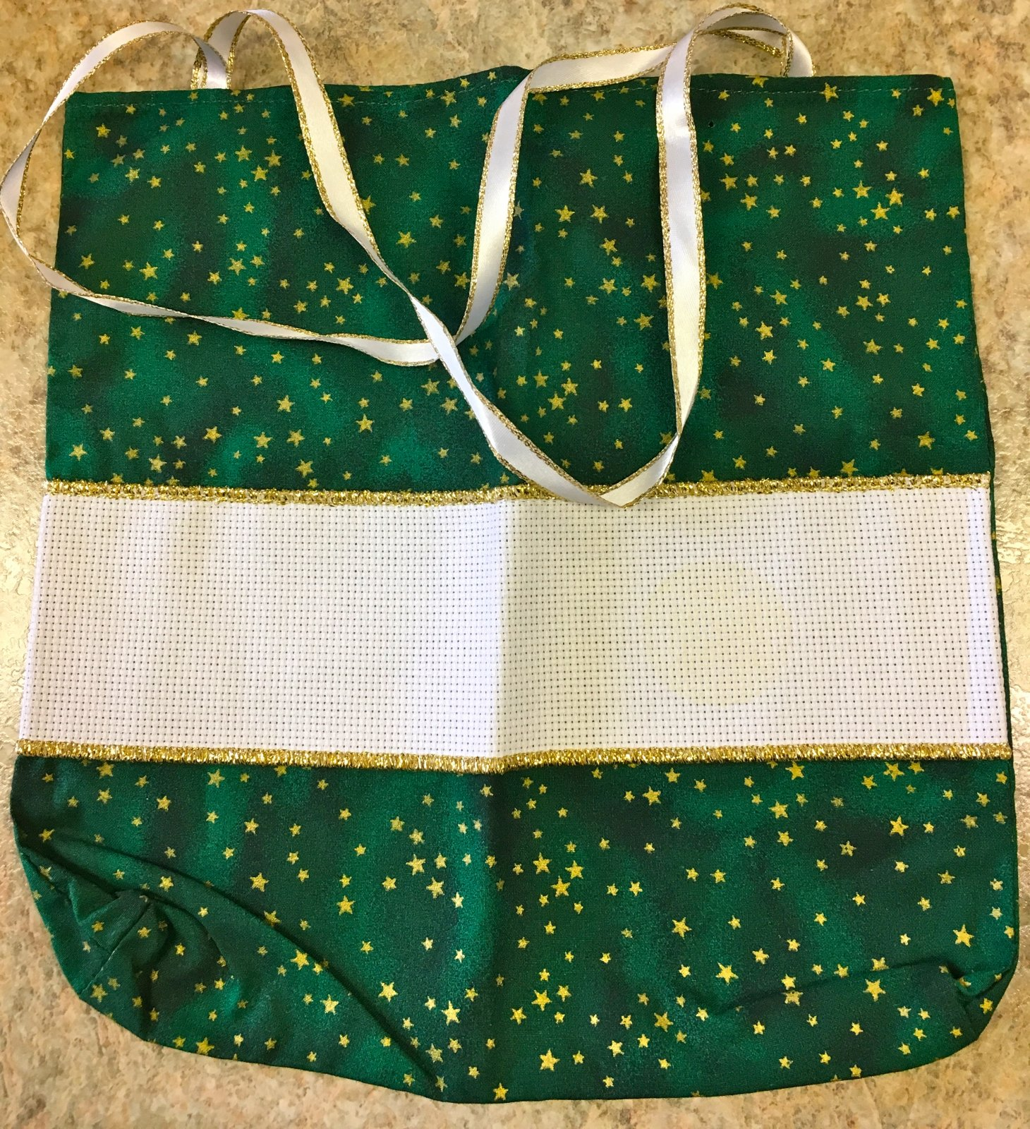 Green and Gold Bag with an Aida Band