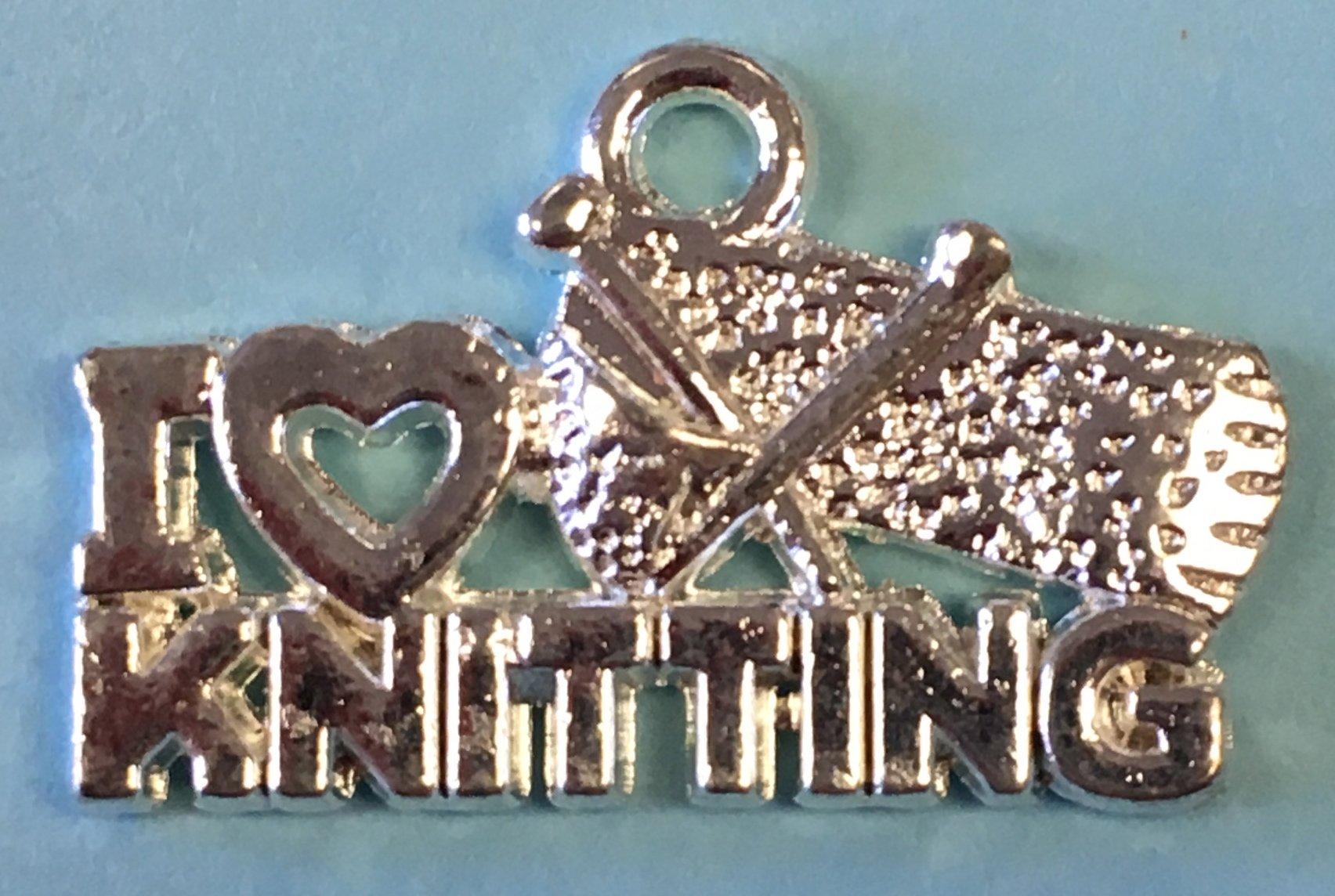 I (Heart) Knitting Charm