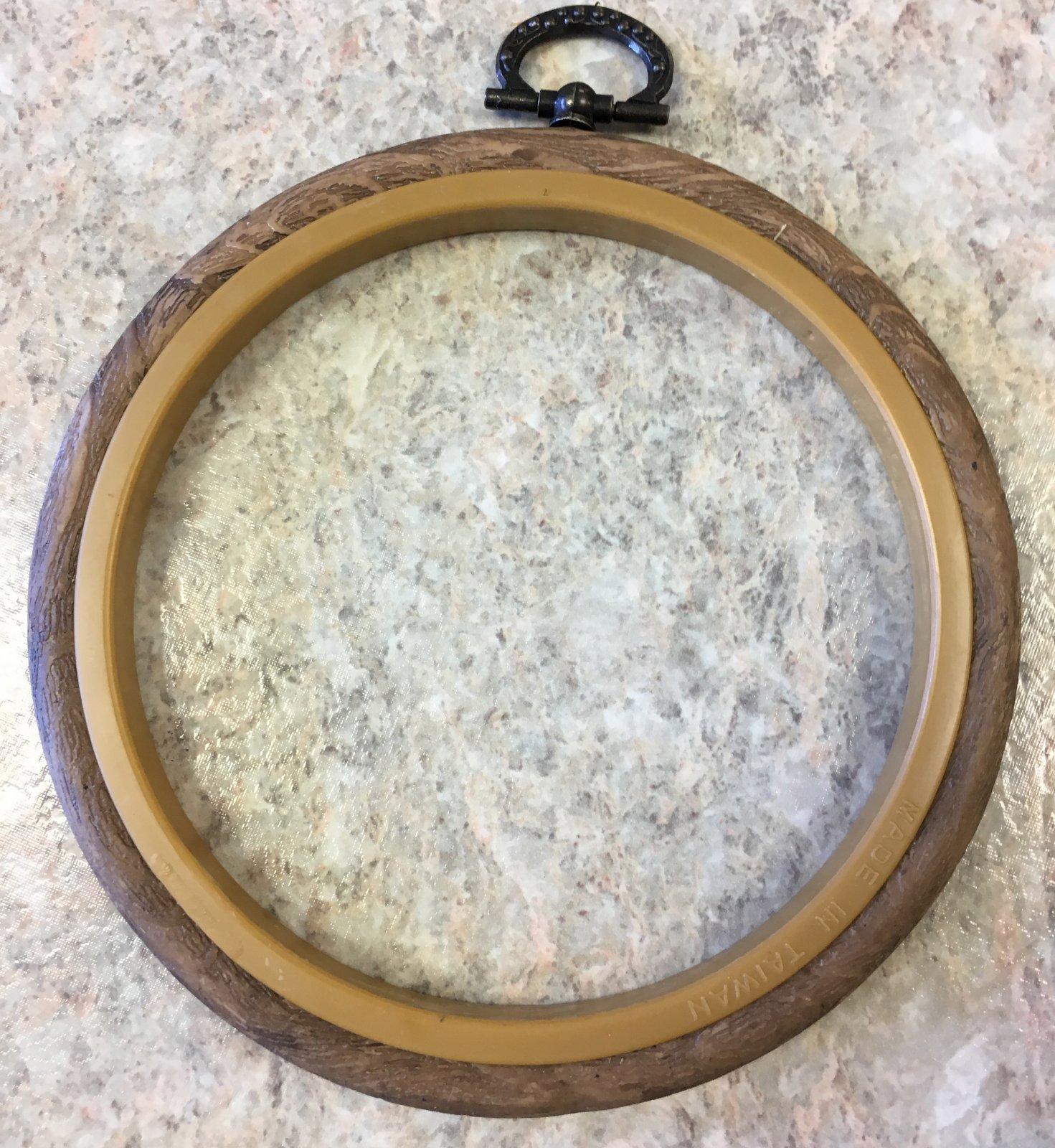 4 Faux Wood Hoop Frame