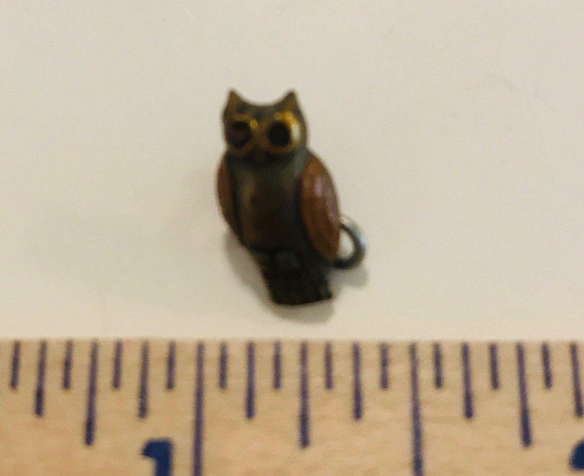 Enameled Owl Charm