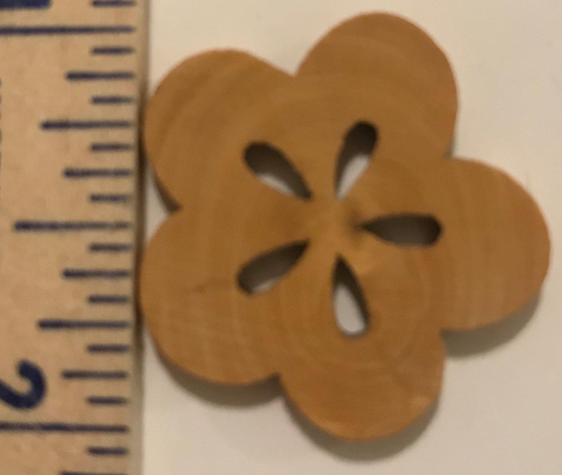 Flower w/5 Petals, Wood