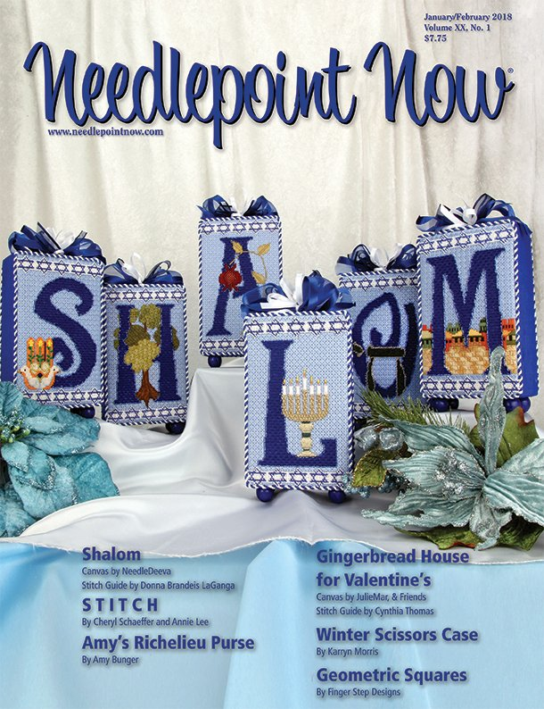 Needlepoint Now Magazine Back Issue Jan/Feb 2018