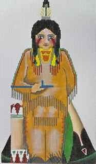 Native American Boy Handpainted Canvas
