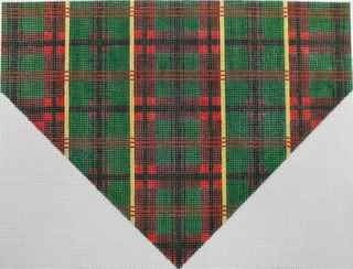 Plaid Stocking Top Canvas