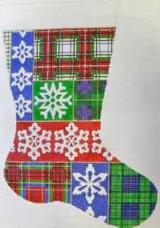 Plaid Stocking Canvas
