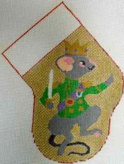 MouseKingMiniStocking HandpaintedCanvas