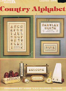 Country Alphabet Counted Cross Stitch