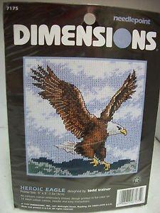 Heroic Eagle Needlepoint Kit