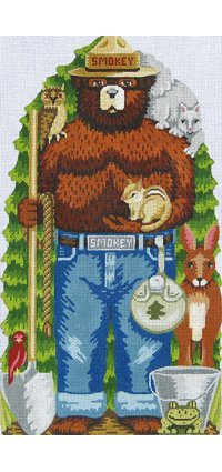 Smokey Bear-Standing, 10X18, 13m, Supports USFS