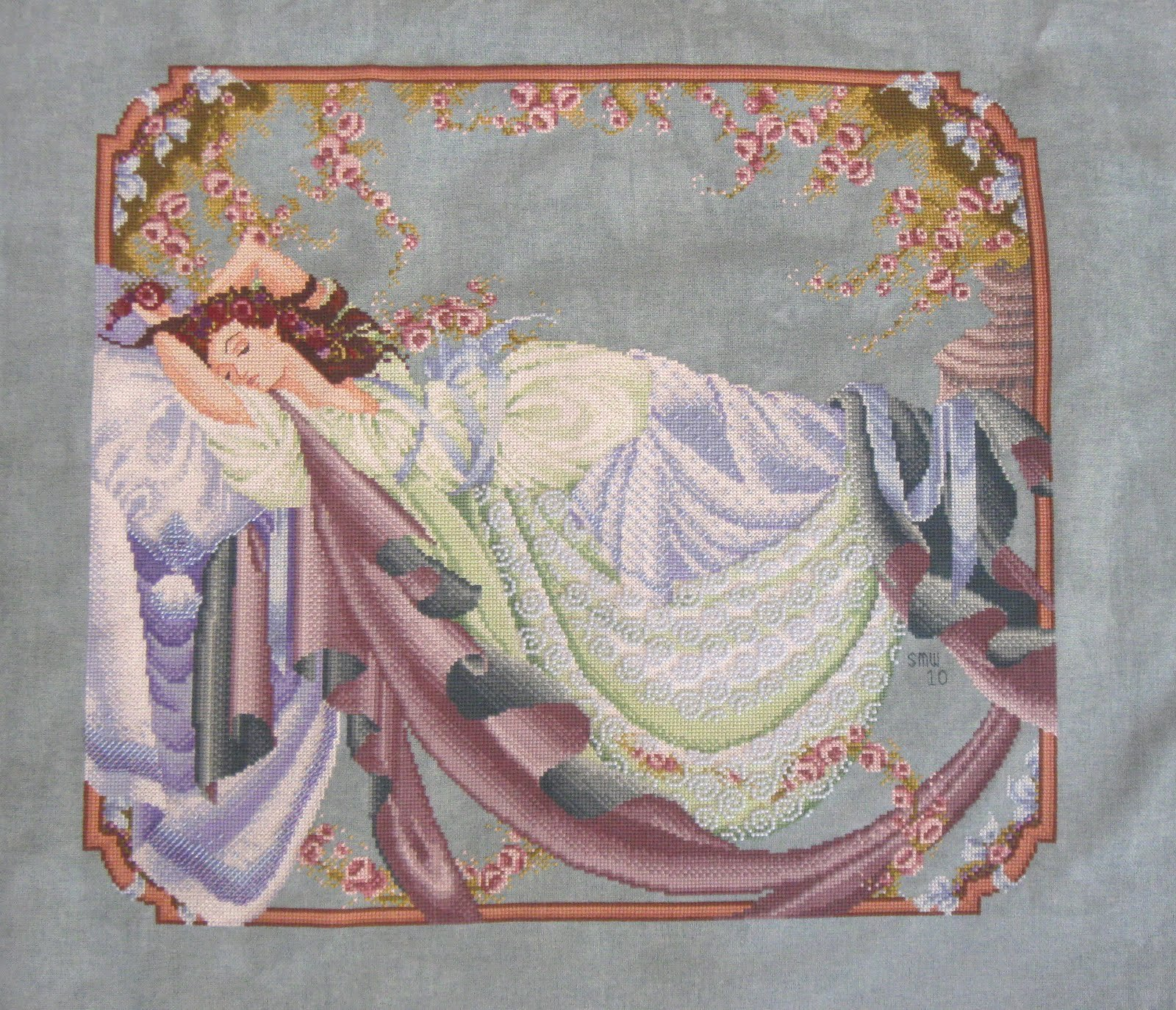 Sleeping Beauty Counted Cross-Stitch Chart