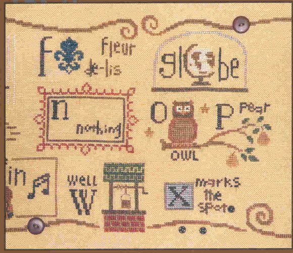 Snapperbets 4 F G N O P W X Counted Cross Stitch