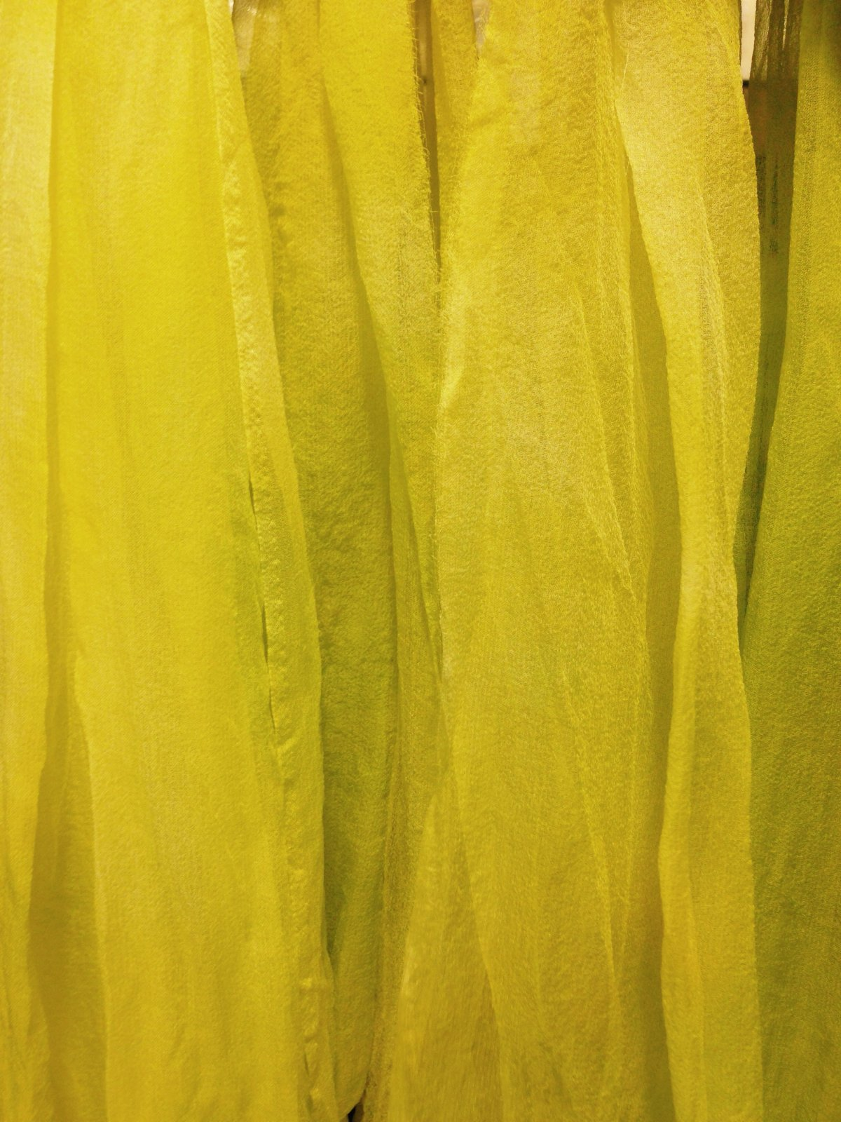 Hand Dyed Silk Gauze (5'x1') - Chartreuse