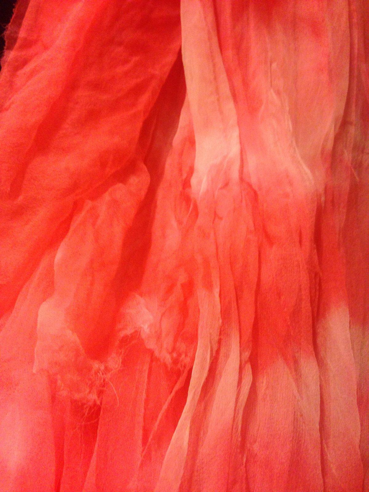Hand Dyed Silk Gauze (5'x1') - Strawberry