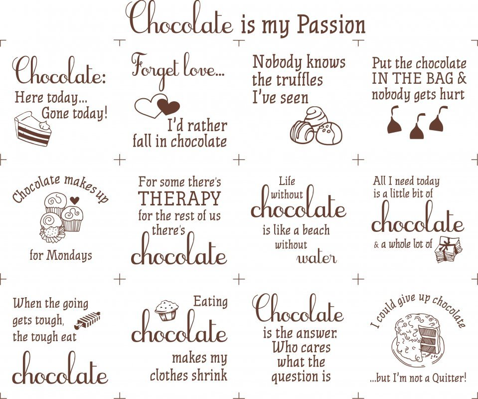 Chocolate is my passion 18 x 22 Panel - White