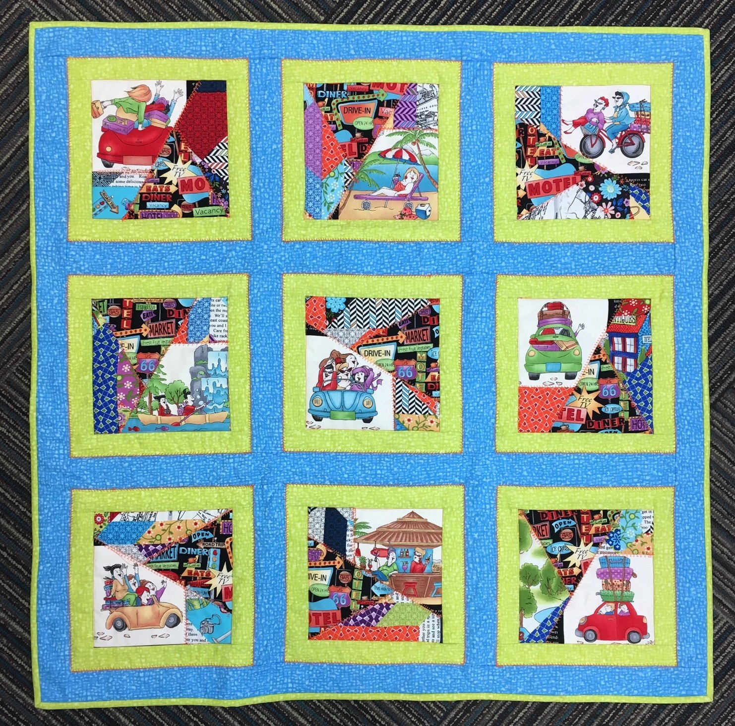 Crazy Quilter's Road Trip Kit 36 x 36