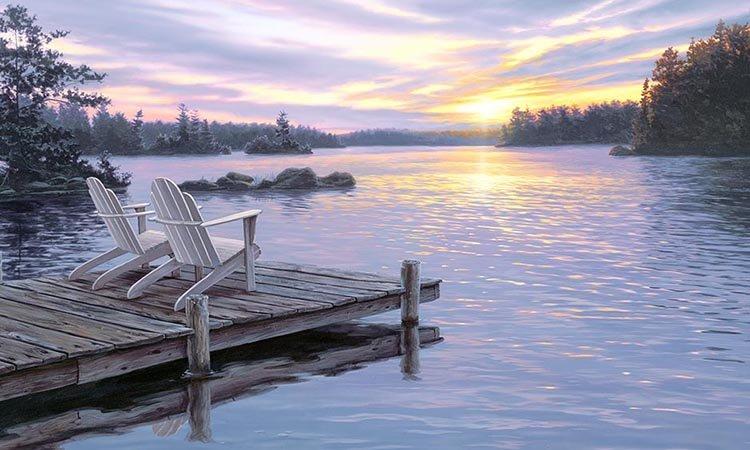 Lake Scenic Panel 817