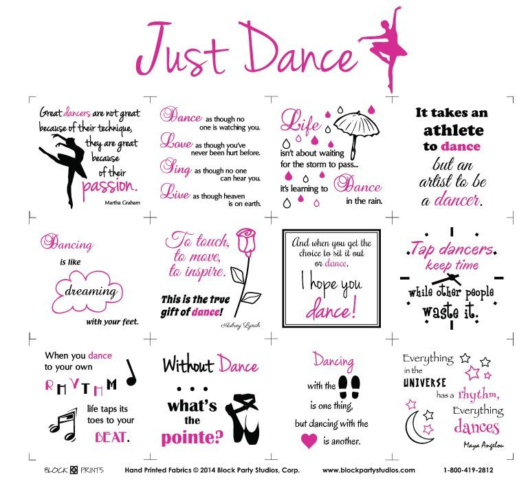 Just Dance 18 x 22 Panel with Black Writing