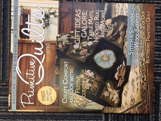 Primitive Quilts Magazine Winter 2016