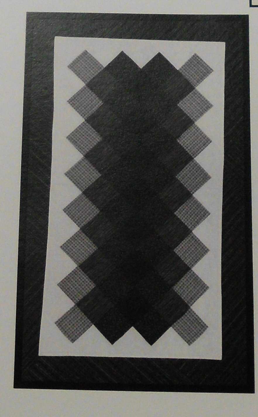 Shaded Diamonds Table Runner Pattern