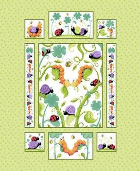 Leif, the caterpillar Panel 36 x 42