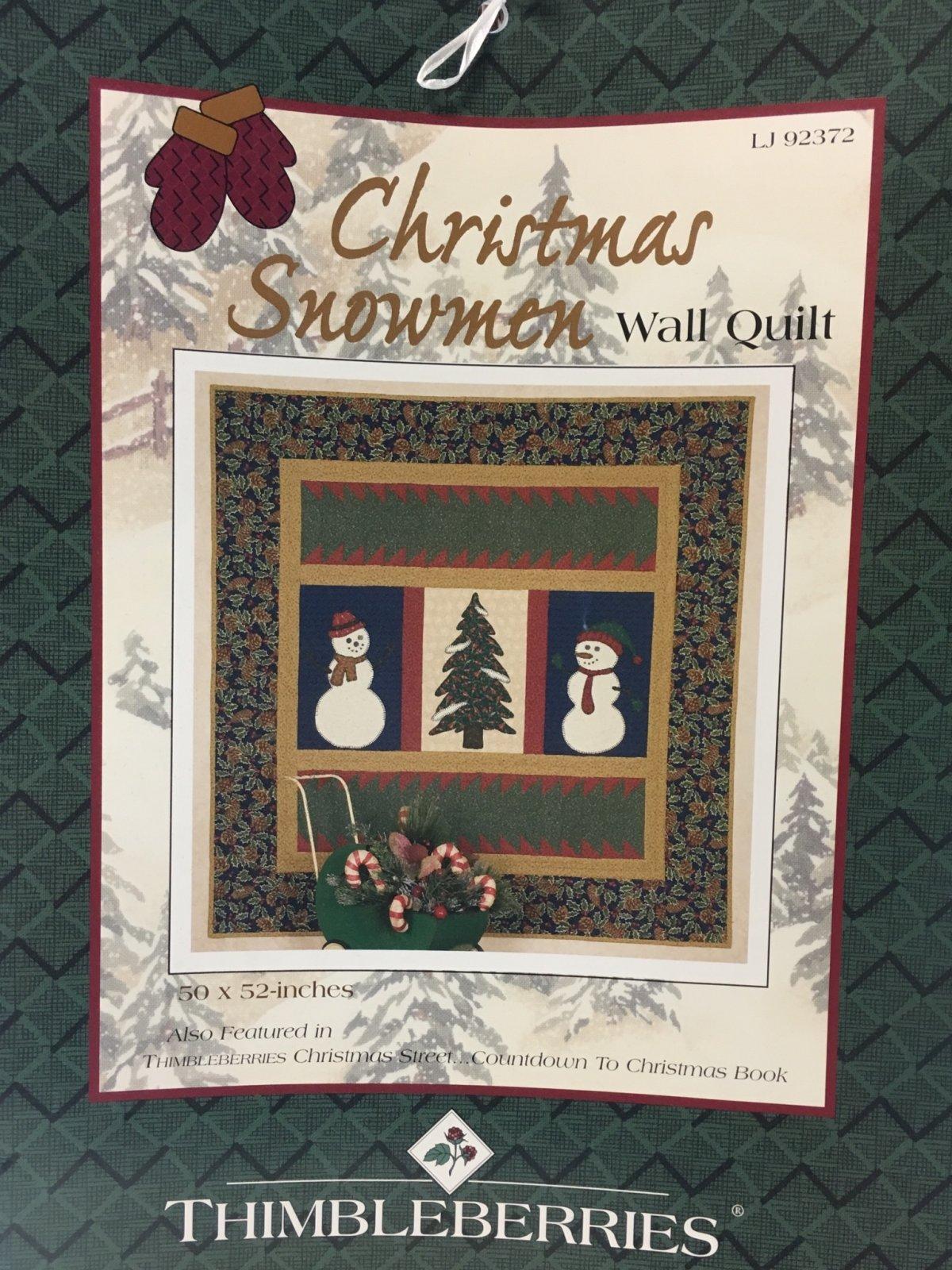Christmas Snowmen Wall Quilt Kit