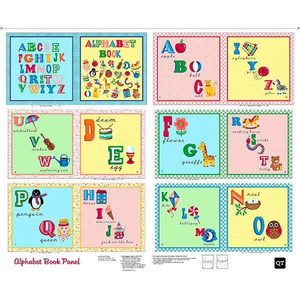 Sew and Go Alphabet Book Panel