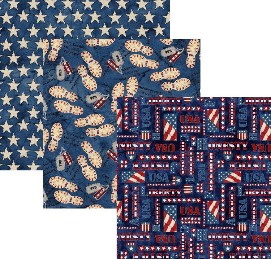 Blank Quilting; American Honor Fabrics