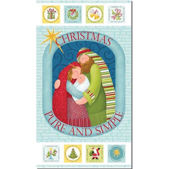 Christmas Pure and Simple panel by Nancy Halvorsen