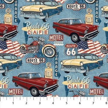Northcott; Route 66 fabrics