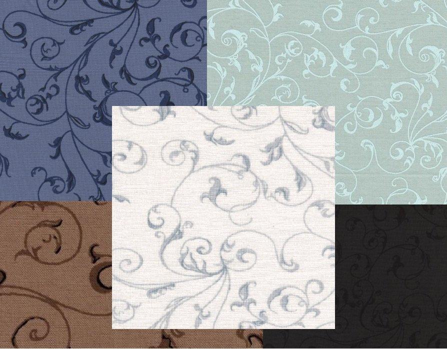 Westrade Textiles quilt Back: Filigree