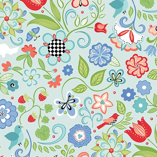 Benartex; Folk Art Fantasy fabrics