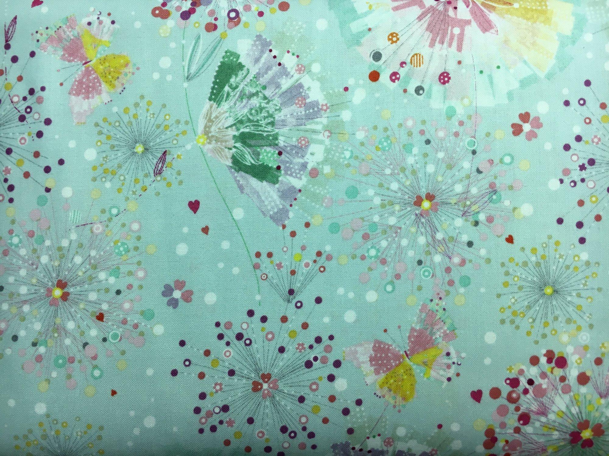 Quilting Treasures; Confetti Blossom fabrics (multi prints)
