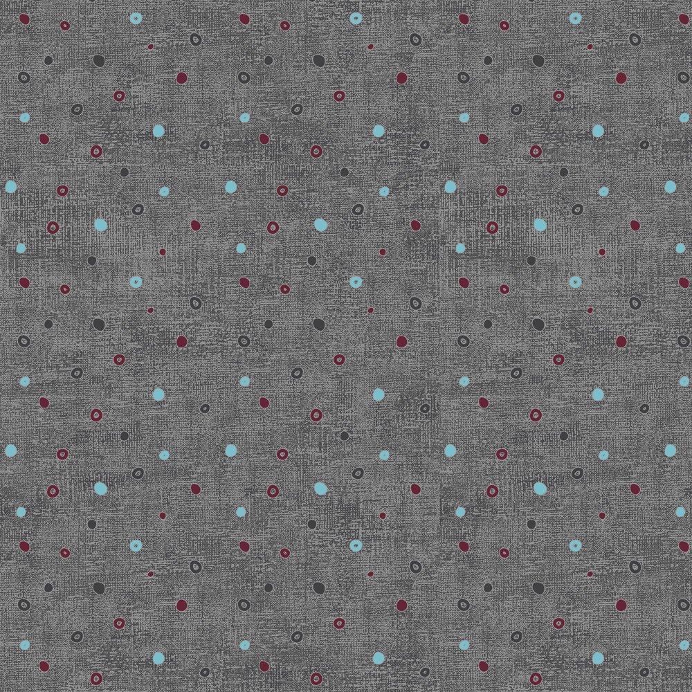 Stof; Mixed Melange; Circle Dot print