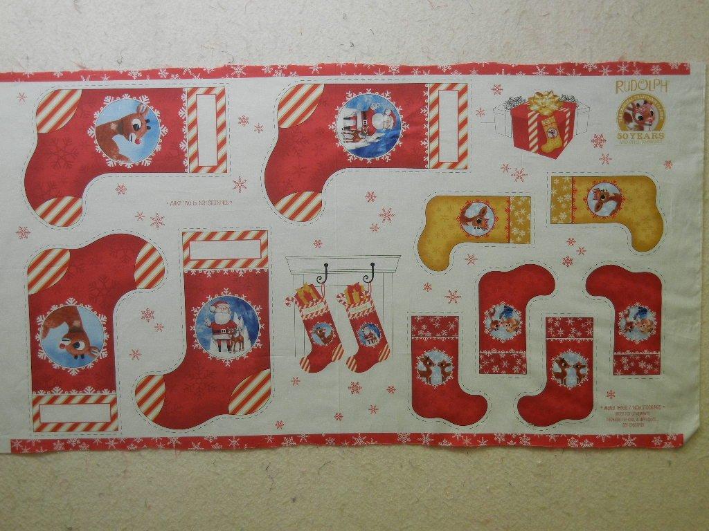 Rudolph's 50 Year Anniversary Stocking Panels