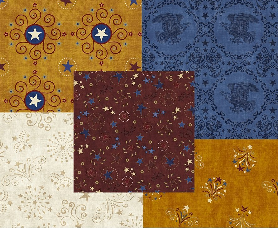 Quilting Treasures; Stars and Stripes Forever Fabrics