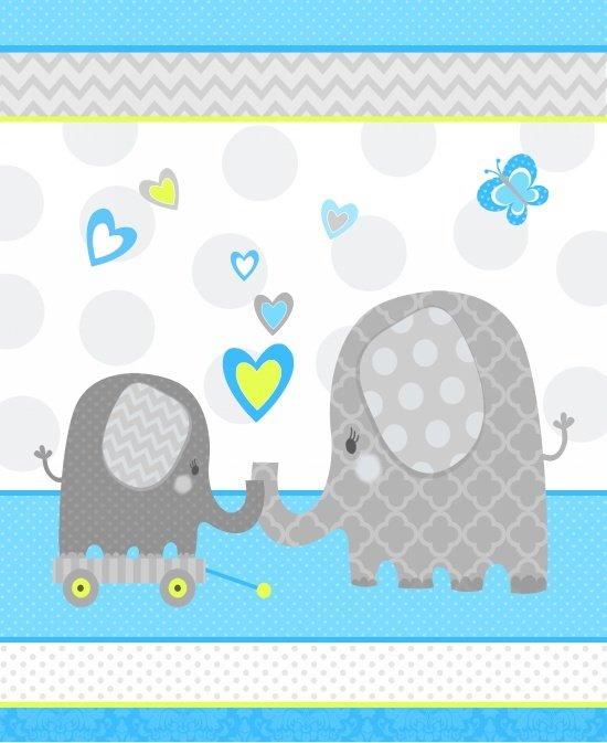 Studio E; Hello Baby; Flannel Elephant panel