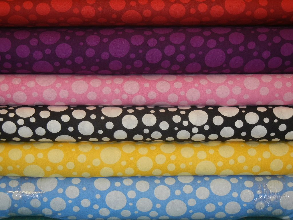 Westrade Collections 110 wide Quilt backs; Circle Dots