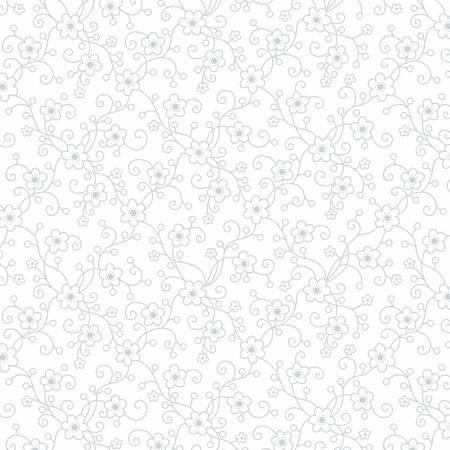 Daisy Vine - White on White