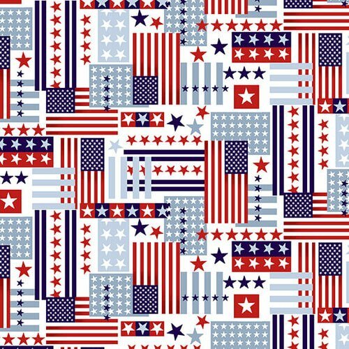 American Style - Flag Collage