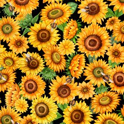 Always Face Sunflowers - Black