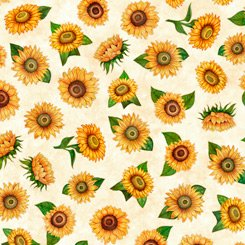 Always Face Sunflowers - White