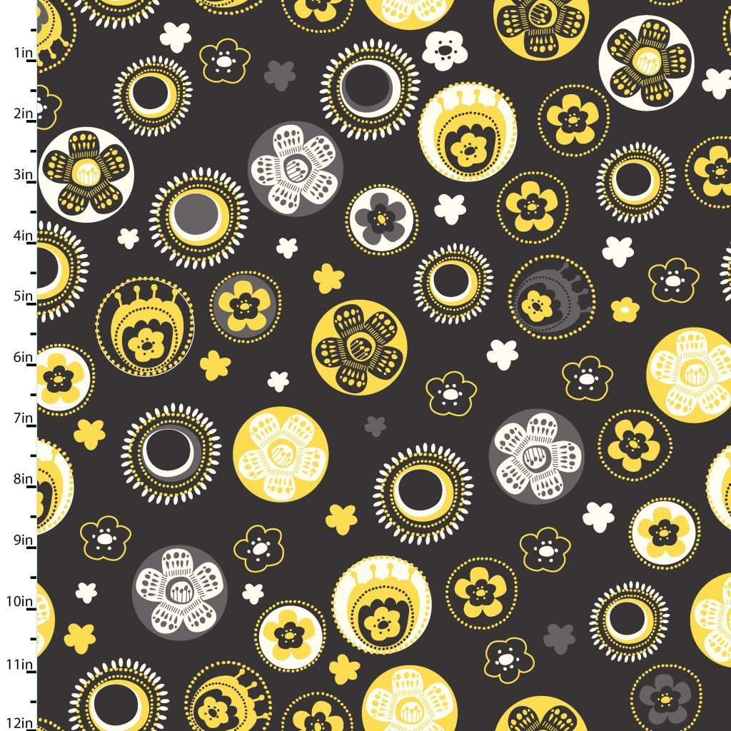 Savannah Floral Bubbles Black