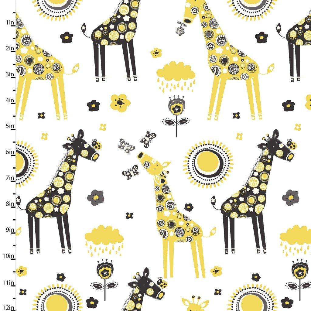 Savannah Giraffes White
