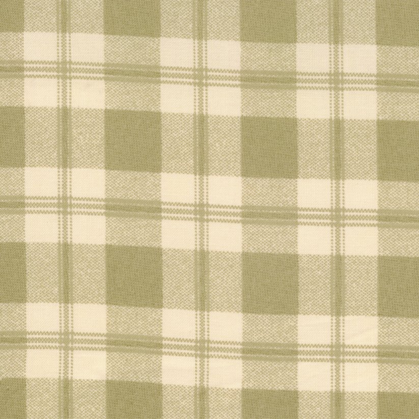Lilac Hill Green and Cream Plaid