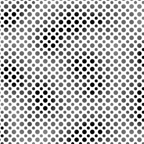 Ombre Dots Black