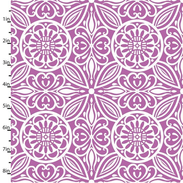 Modern Mixers Medallions Floral Pink